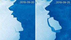 Distacco di un Iceberg.